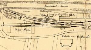 Bf Derschlag und Fabrikgebäude Reusch (Kartenausschnitt 1912 )