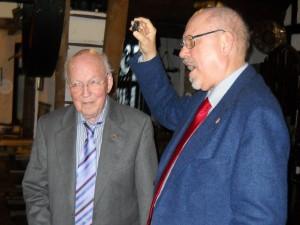 Jubilar Reinhard Scheldt und Dr. Alexander Rothkopf
